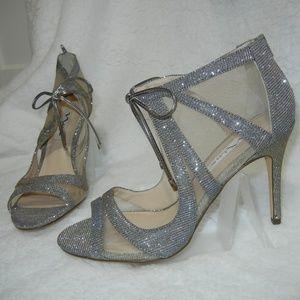 NINA Women's Cherie Dress Pump Steel/Champagne